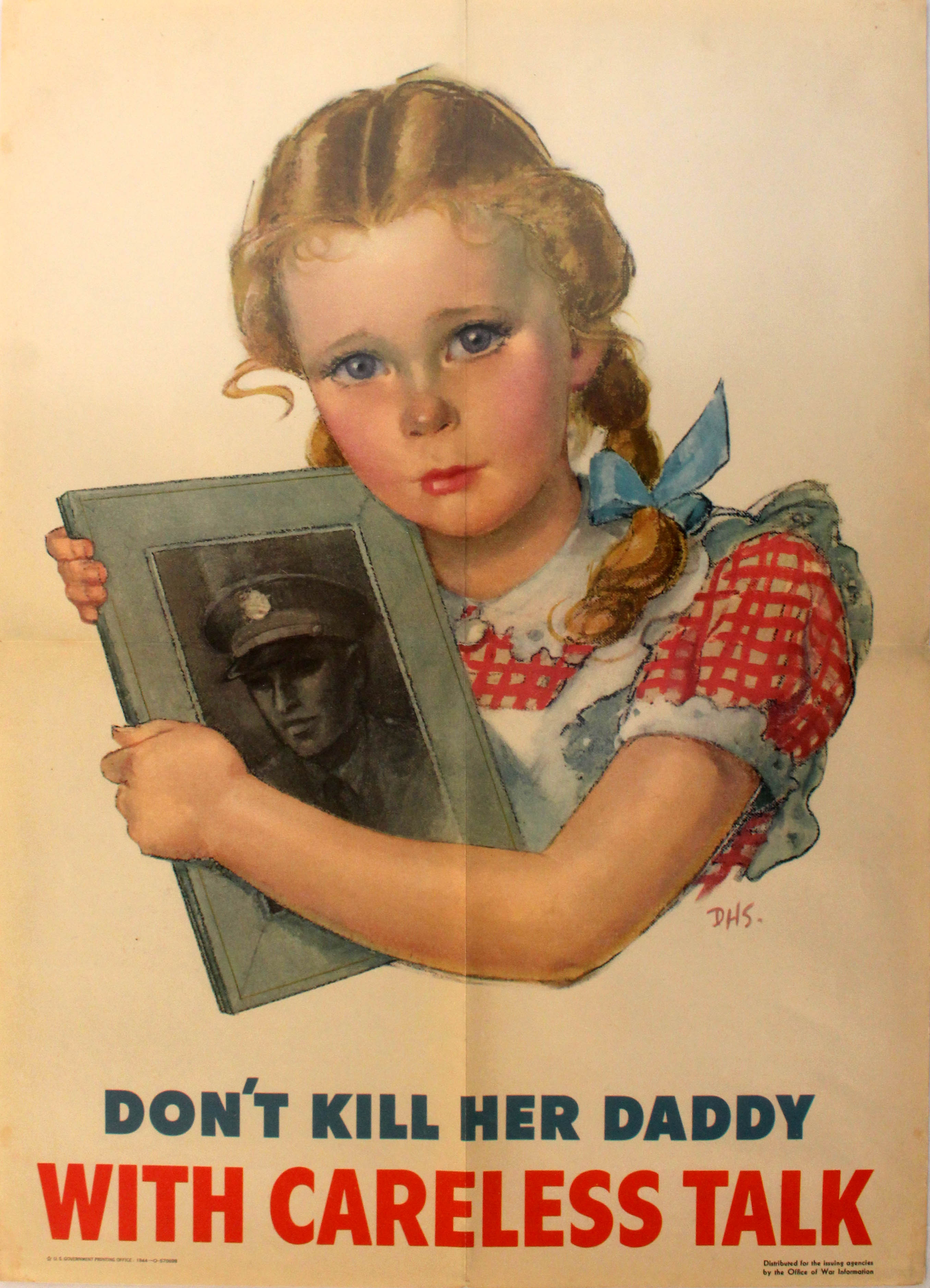 Lot 27 - War Poster MY Daddy is a Hero WWII UK USSR Russia