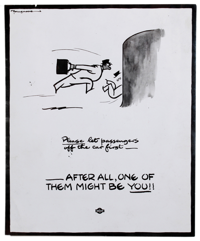 Lot 4403 - Propaganda Poster WWII Bus Transport Safety Fougasse