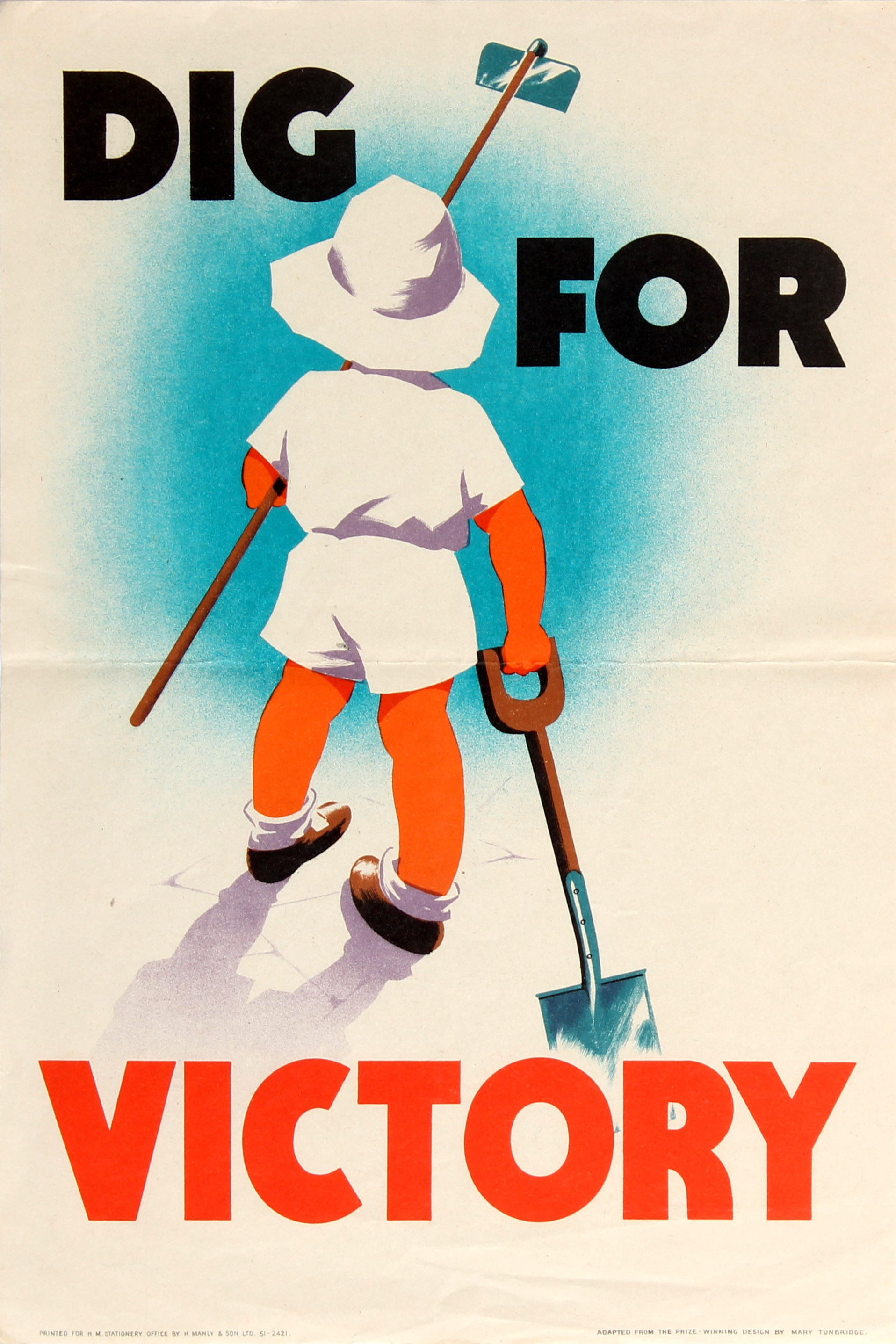 Lot 18 - War Poster Dig For Victory WWII UK Home Front Mary Tunbridge