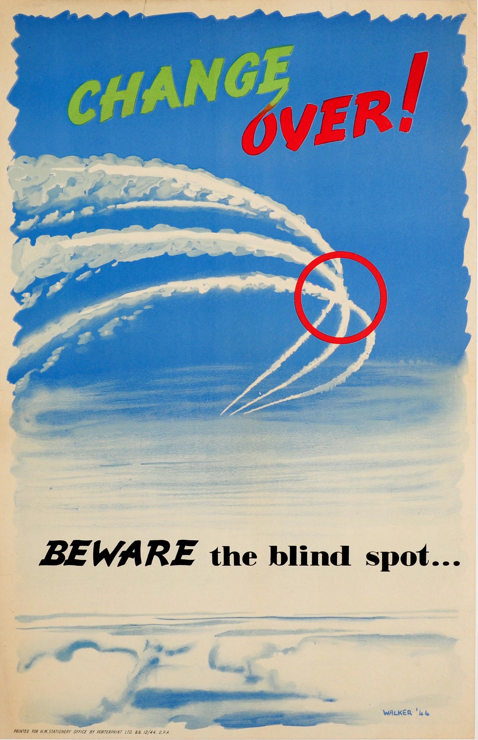 Lot 33 - Propaganda Poster Air Force Pilot Safety Blind Spot UK
