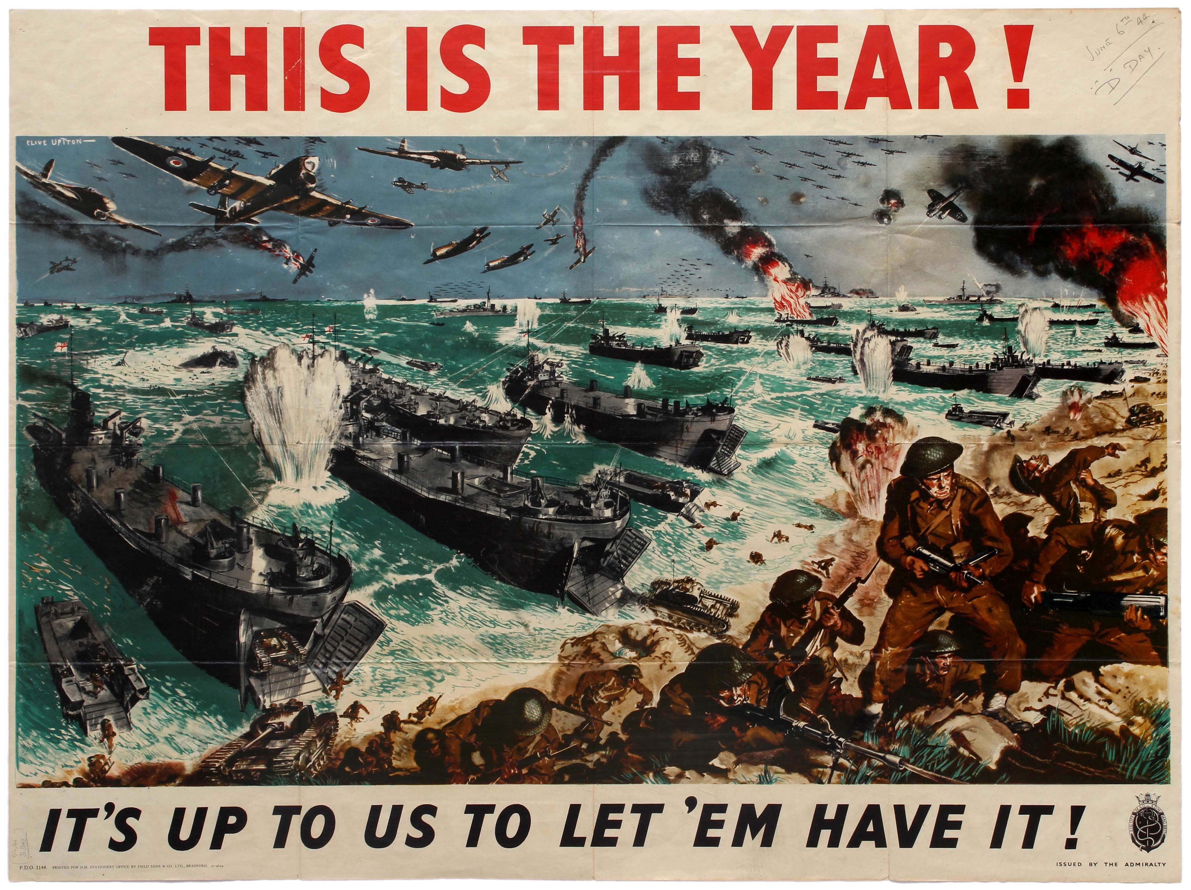 Lot 15 - War Poster WWII D Day Landing Normandie This is the Year