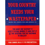 War Poster Paper Recycling Home Front WWII War