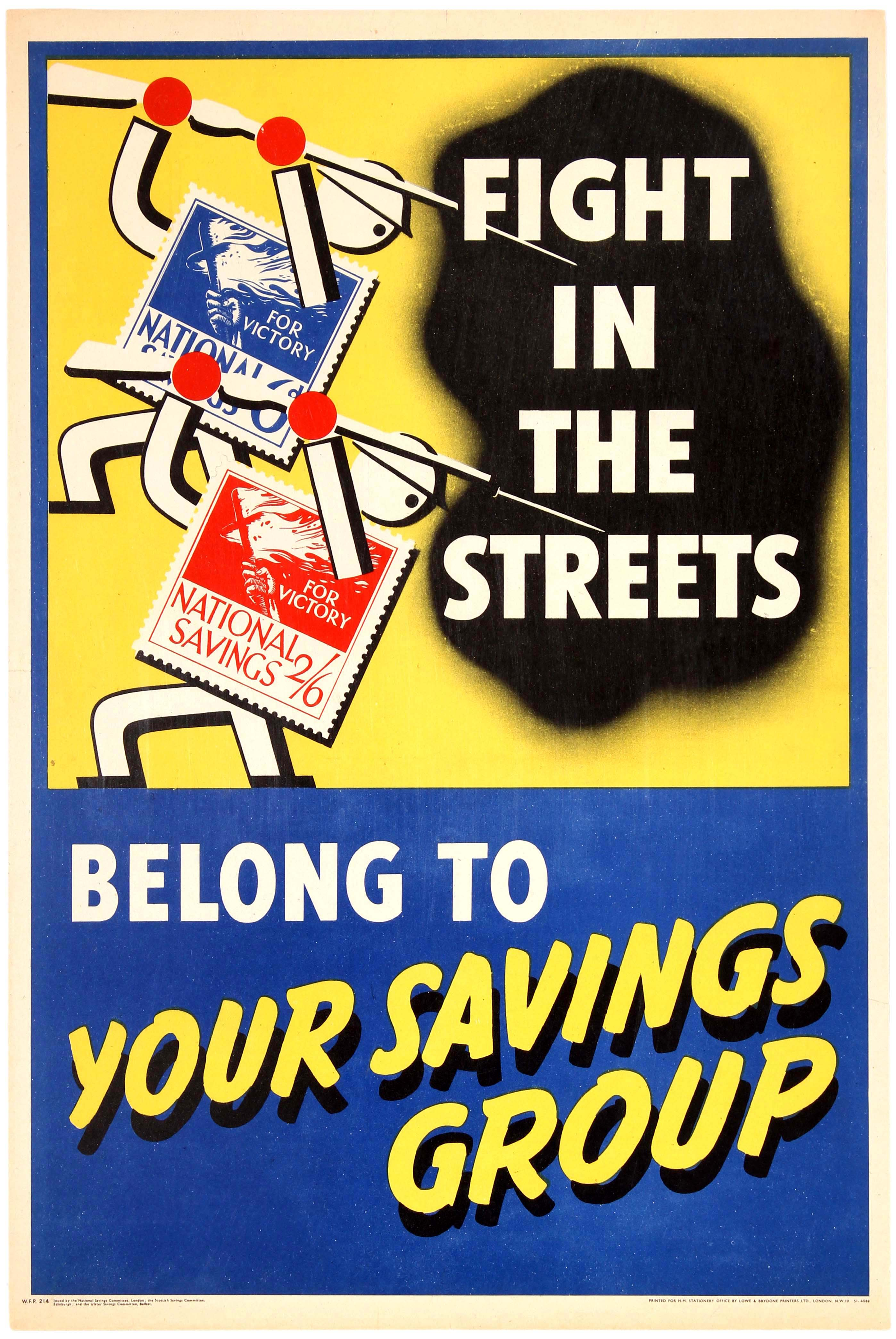 Lot 32 - Propaganda Poster British WWII Home Front Savings Group 1940s