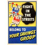 Propaganda Poster British WWII Home Front Savings Group 1940s