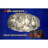 Propaganda Poster Air Force Pilot Safety Life Savers Doctor Surgeon