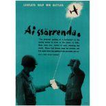 War Poster WWII Leaflets Help Win Battles Nazi War Prisoner