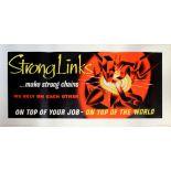 Propaganda Poster Workplace Motivation Teamwork Strong Links