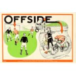 Propaganda Poster Road Safety ROSPA Football Offside Cycling Bicycle
