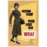 Propaganda Poster WRAF Women Royal Air Force Recruitment UK