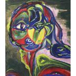 Lot 7815 - Zwei expressive Darstellungen.Gesicht. - Landschaft. Gouachen, wohl 1.H. 20. Jh. Ca. 26 x 21,5