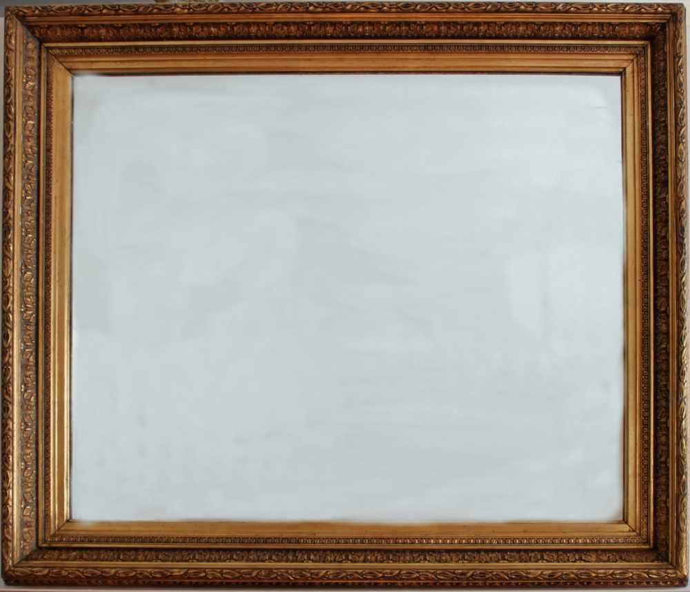 Lot 51 - Historischer Bilderrahmenmit neu eingesetztem Spiegel. Der Bilderrahmen stammt aus der Zeit um 1900.