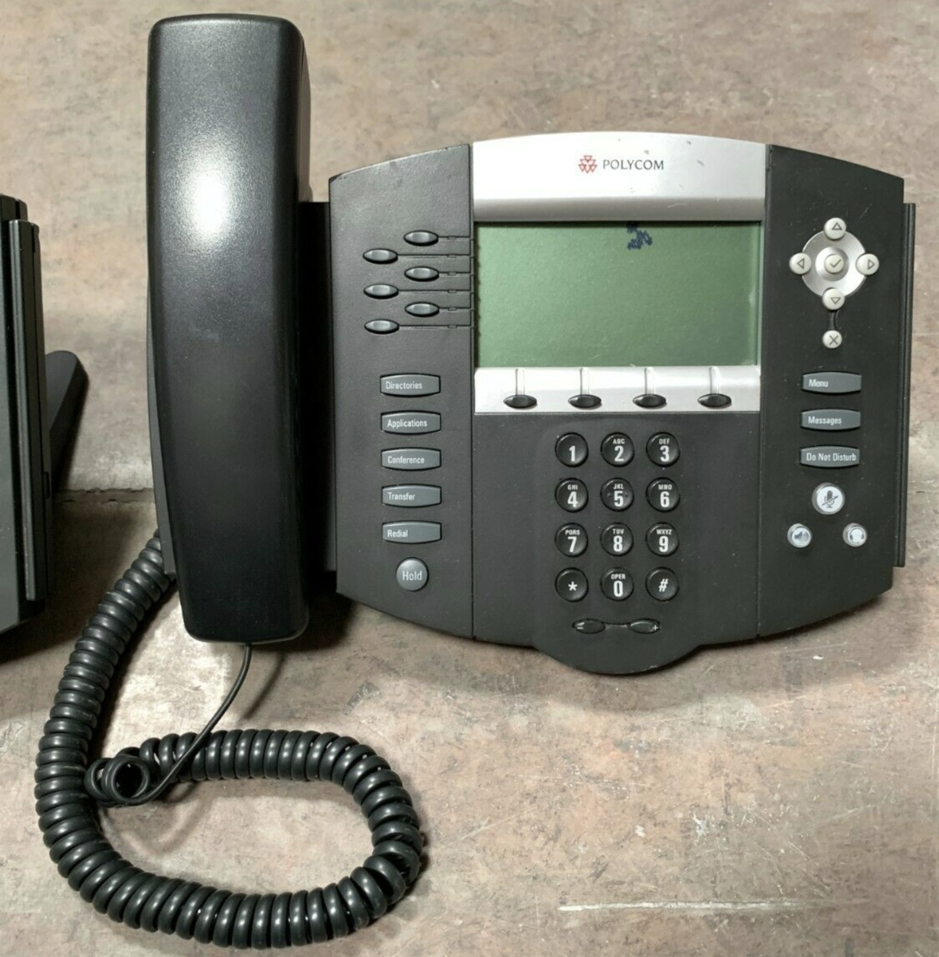 Lot 291 - LOT OF 3 POLYCOM SOUNDPOINT IP VOIP DESKTOP BUSINESS DIGITAL PHONES: 601 650 SIP