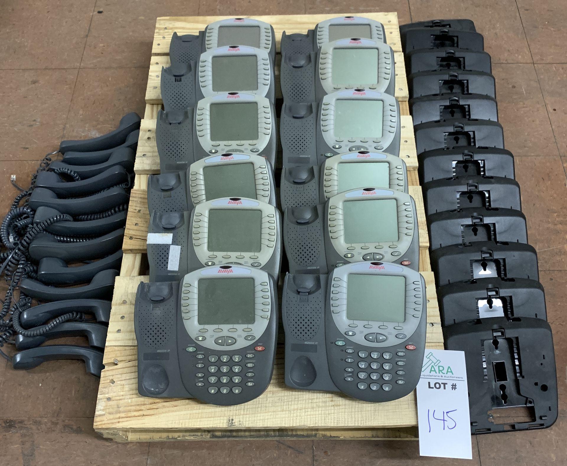 Lot 145 - 12 AVAYA PHONE HANDSETS, MODEL 4620SW IP