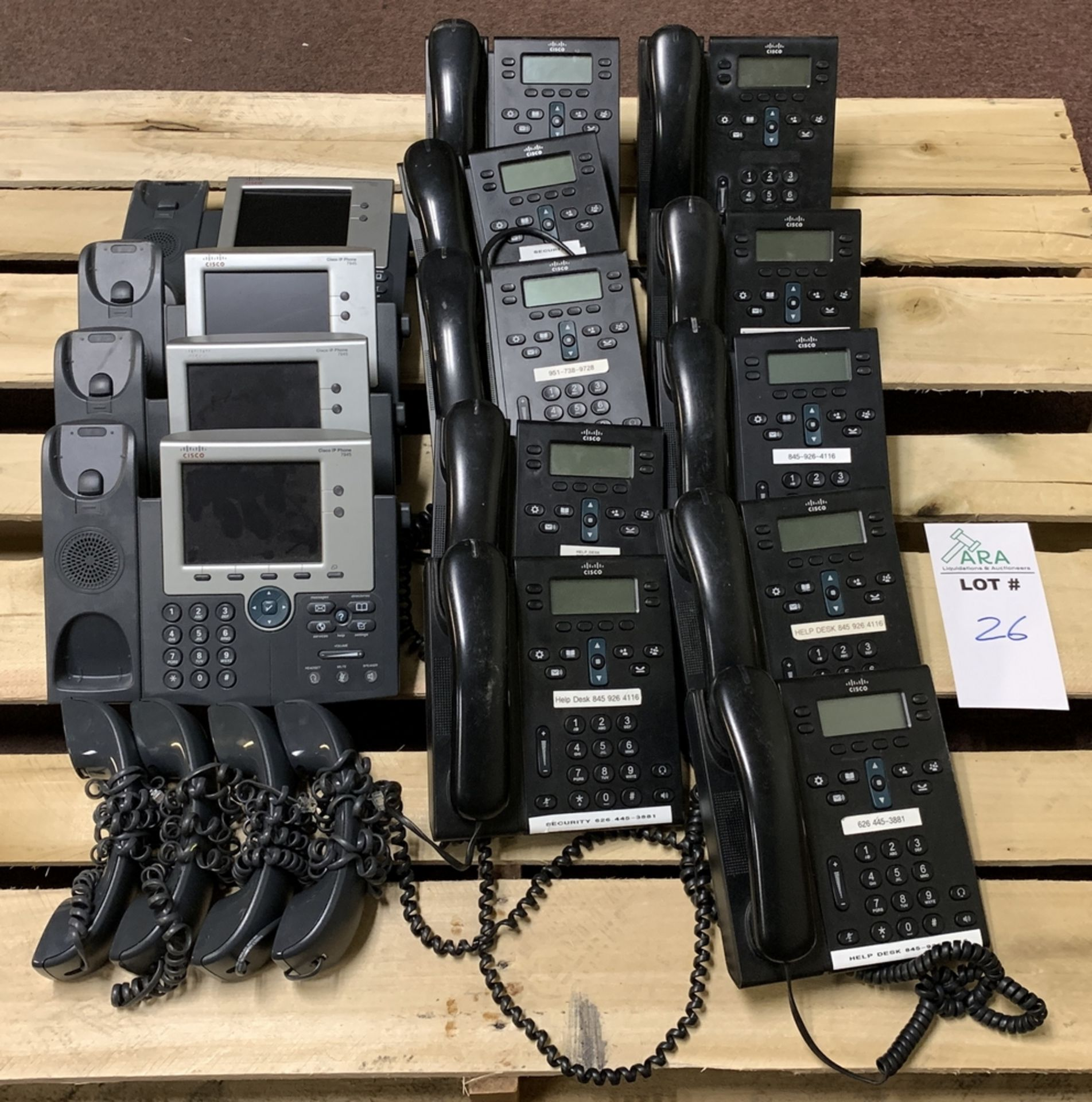 Lot 126 - CISCO PHONE SYSTEMS - 4 X MODEL 7945 & 10 X MODEL CP-6941 - ALL WITH HANDSETS ALL ITEMS ARE SOLD