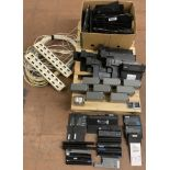 Lot 137 - MIXED LOT OF LAPTOP BATTERIES, CSB BATTERIES, LAPTOP CHARGING DOCK STATIONS, SERVER RACKS & CABLES