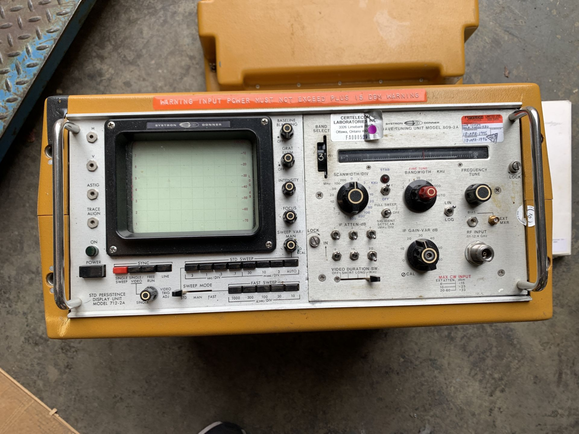 Lot 206 - Systron Donner Microwave Tuning Unit Model 809-2A, Ship from or pick up in Los Angeles