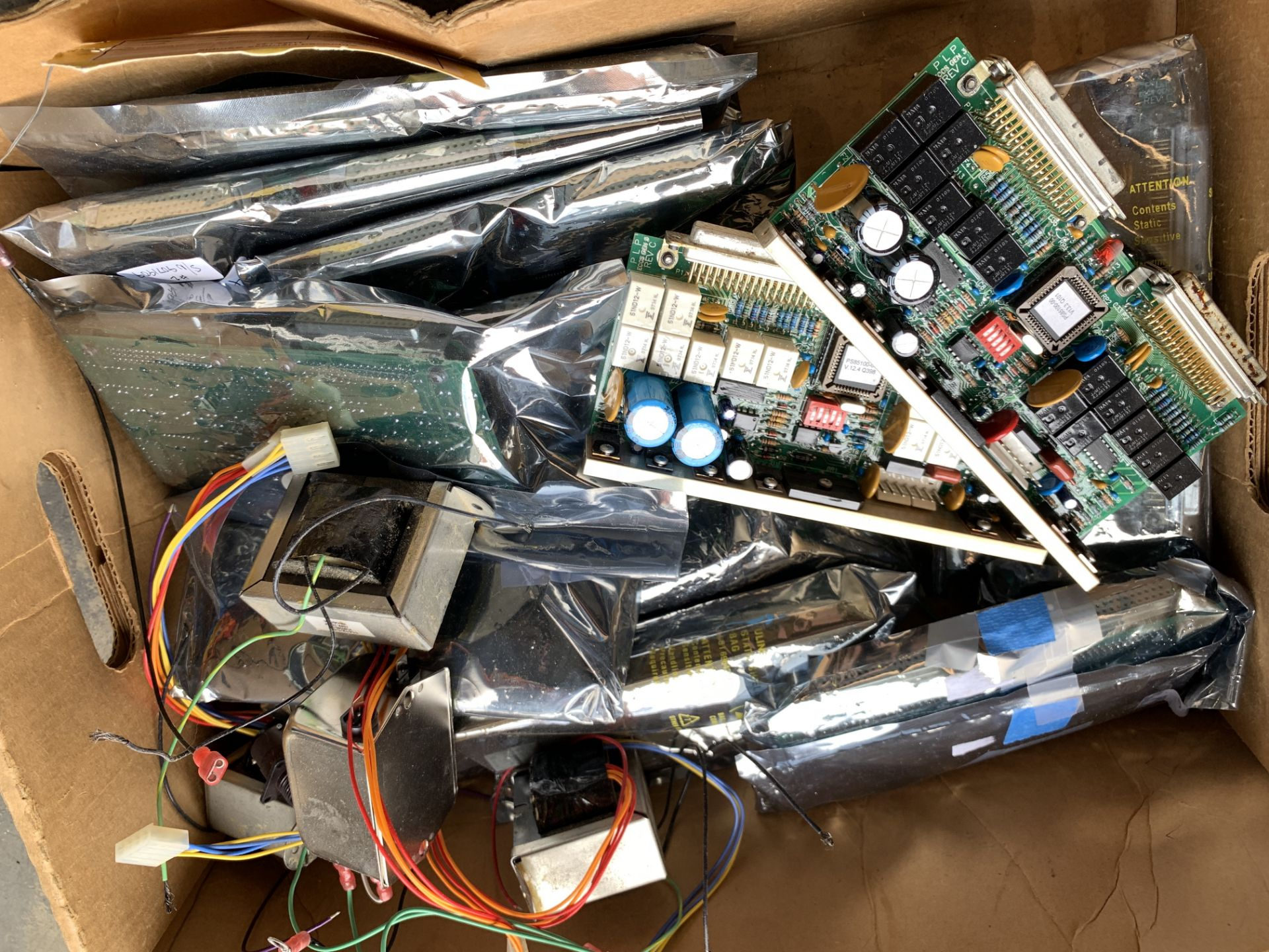 Lot 215 - Mixed lot of Computer Boards, Components and Wiring, Ship from or pick up in Los Angeles