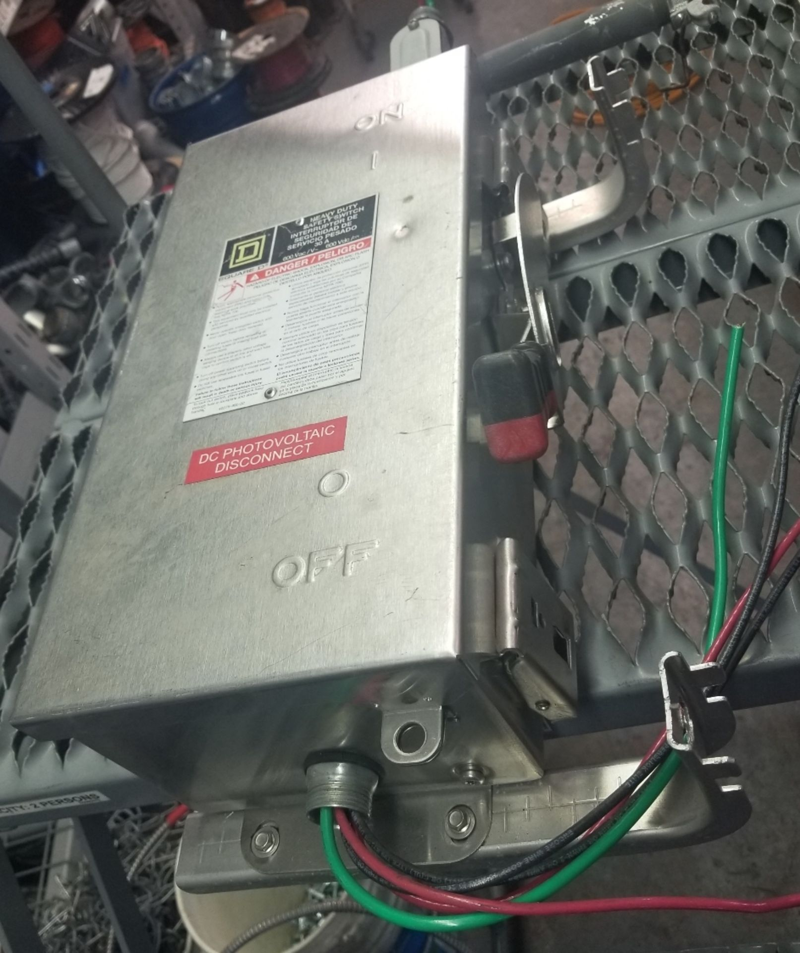 """Lot 230 - Square D AL-40 Enclosed Switch Unit, Heavy Duty Safety Switch, Approximate Dimensions: 17x11x7"""""""