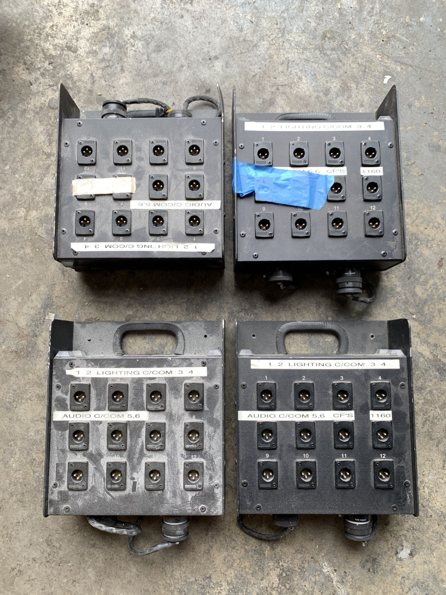 Lot 205 - 4 x Whirlwind Stage Box Units, Ship from or pick up in Los Angeles