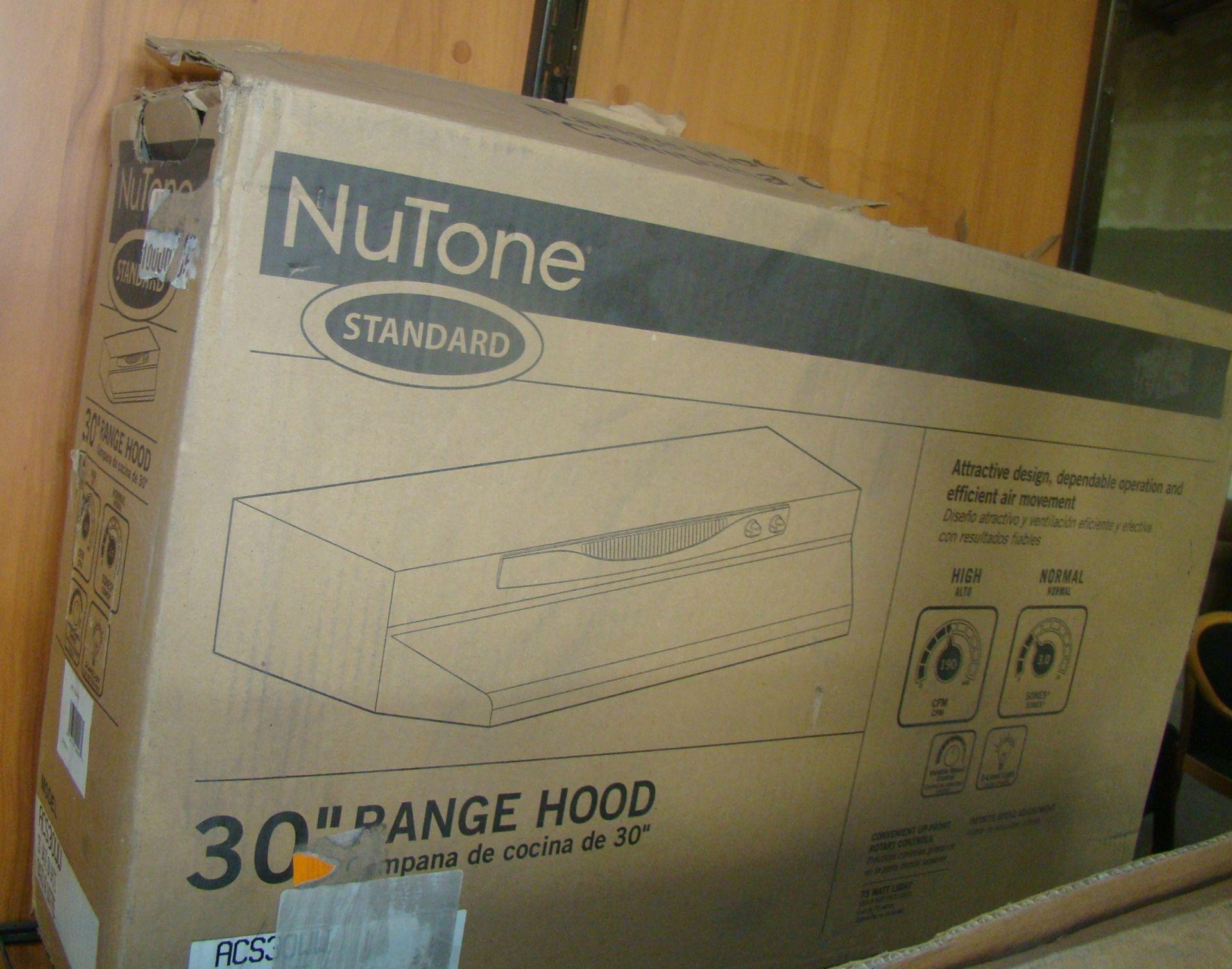 """Lot 5 - 30"""" Range Hood 190 CFM, 3.0 Sones, Variable Speed, 2 light level"""