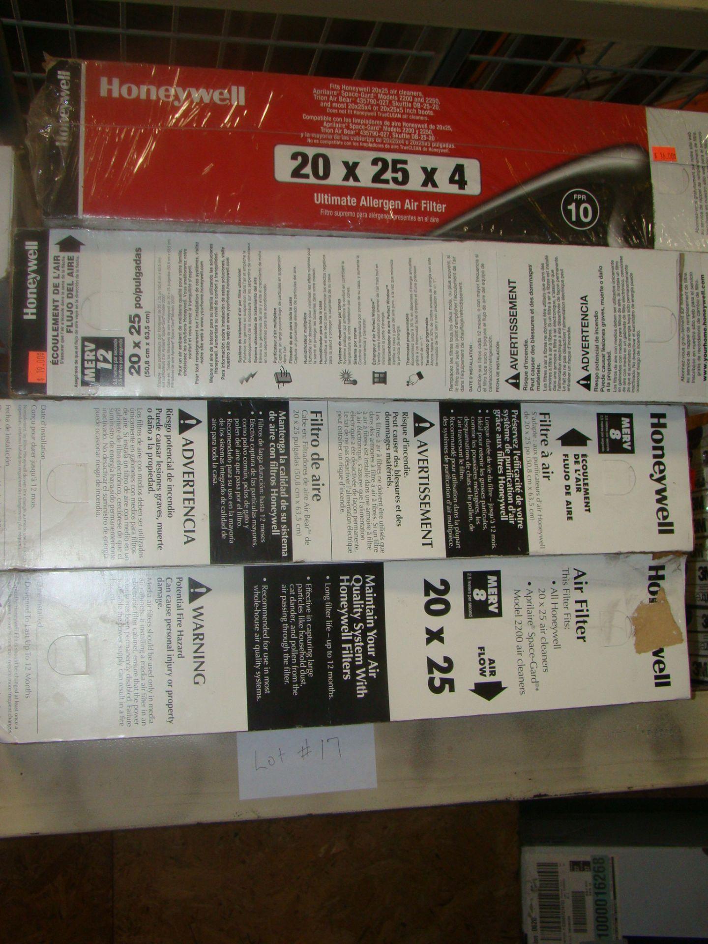 Lot 17 - Honeywell Ultimate Allergen Air Filter 20x25x4;