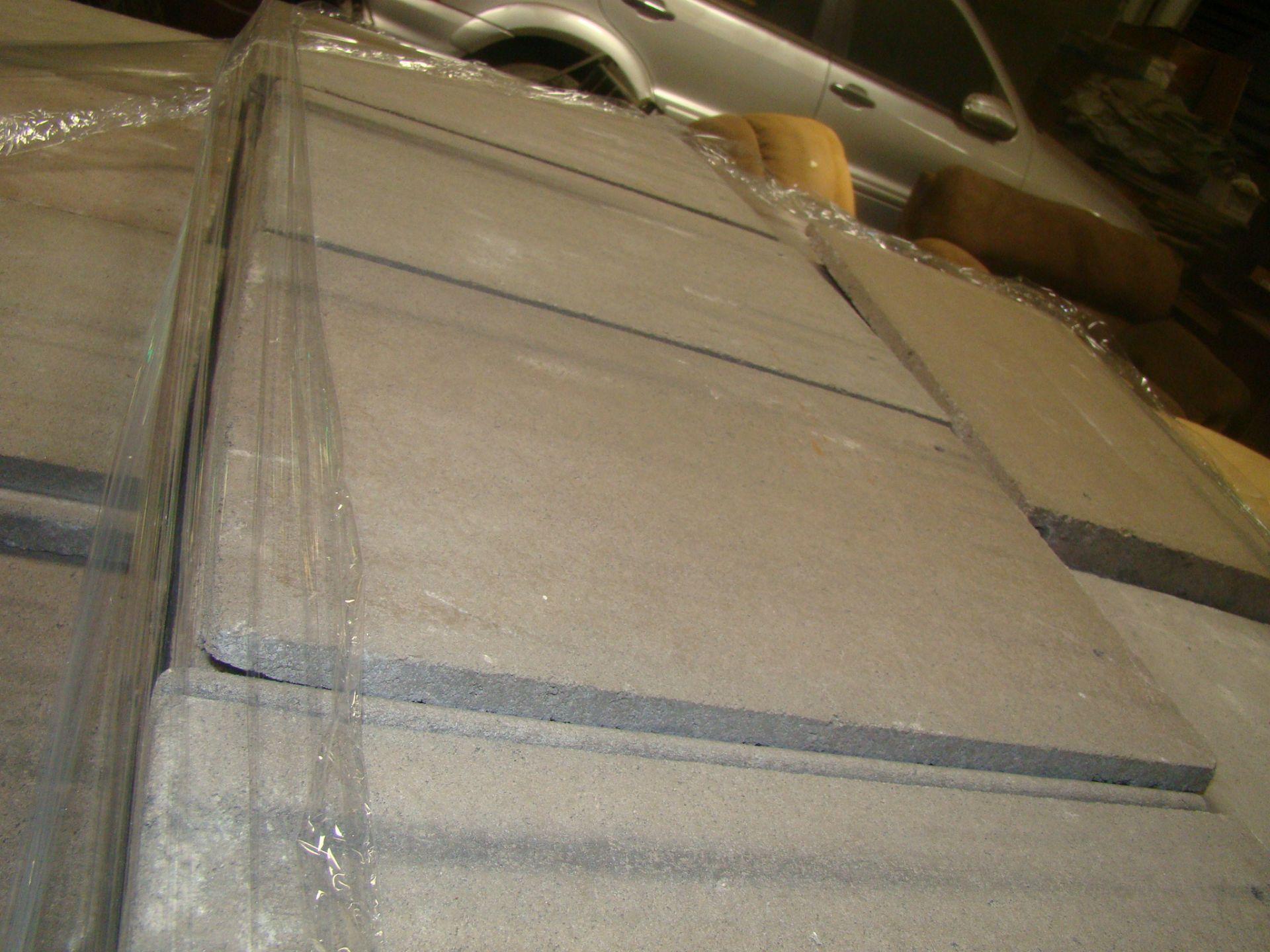 "Lot 1 - Roof Shingles-gray Concrete 17""x12 3/8""x 3/8"" 2 pallets"