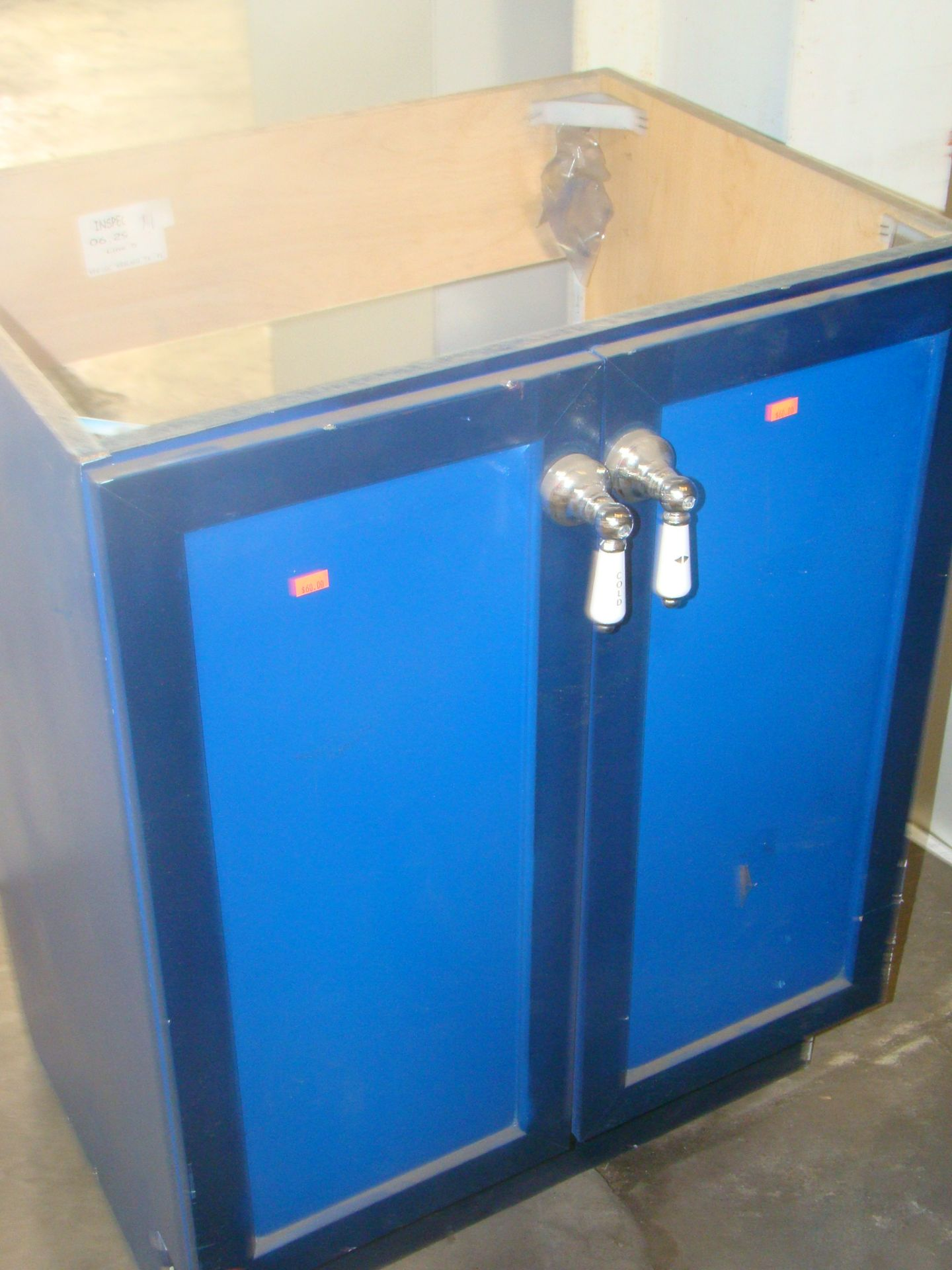 Lot 10 - Blue Bathroom vanity-2 door