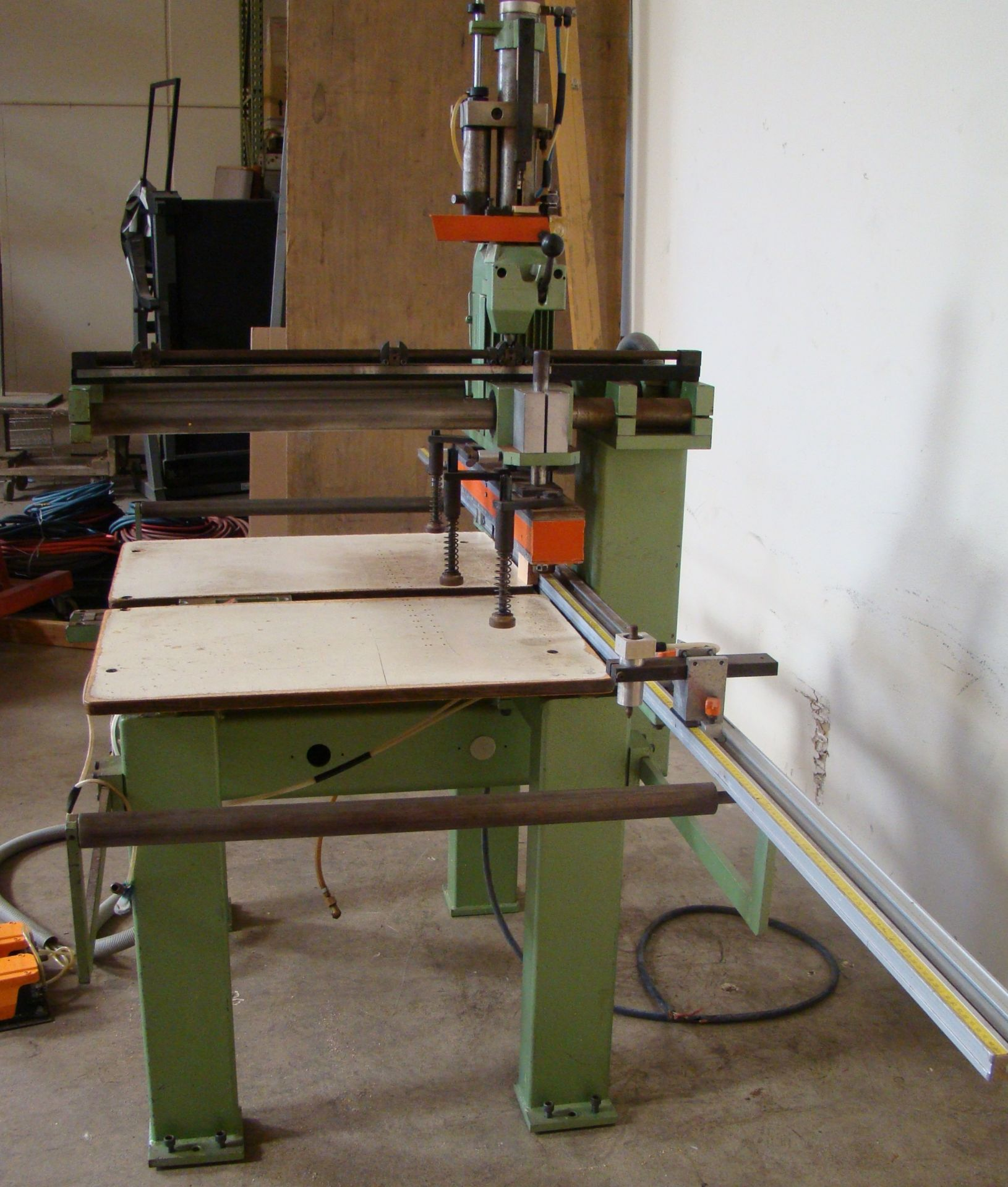 Lot 24 - Ayen 21 Spindle Pneumatic Line Boring Machine with foot pedal, 230/460 Volt 3PH