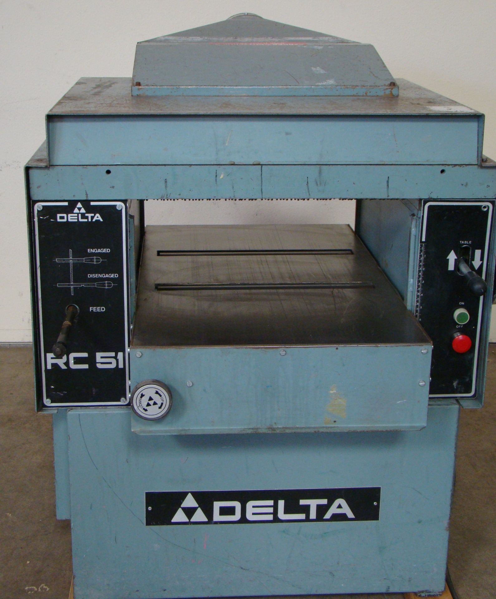 "Lot 42 - Delta RC51 20"" Wood Planer Model #22-460 7-1/2"" HP 230/460 Volt 3PH"