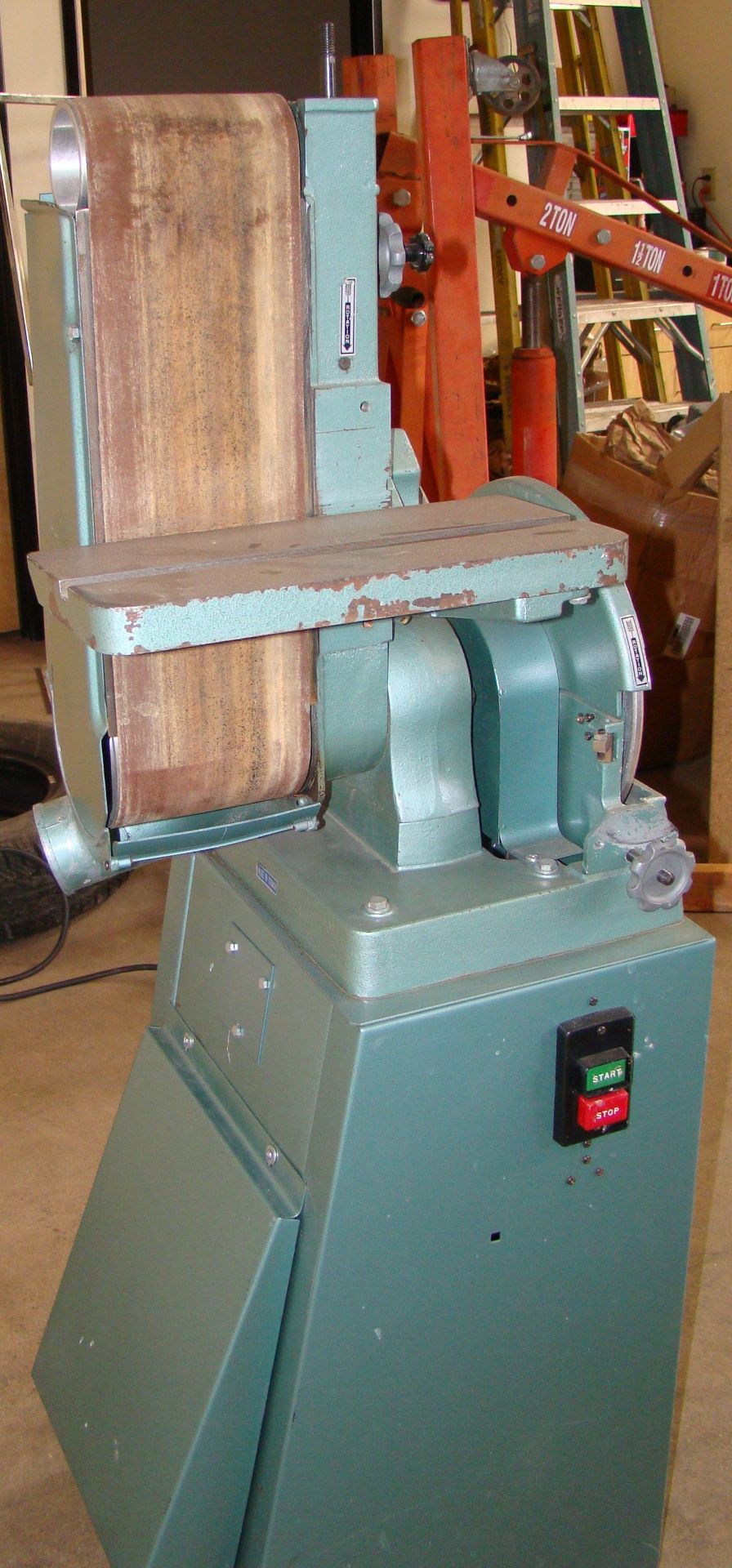 "Lot 16 - Wilton 6"" x 48"" Belt 12"" Disc Sander model 3Z855 220 Volt 1PH"