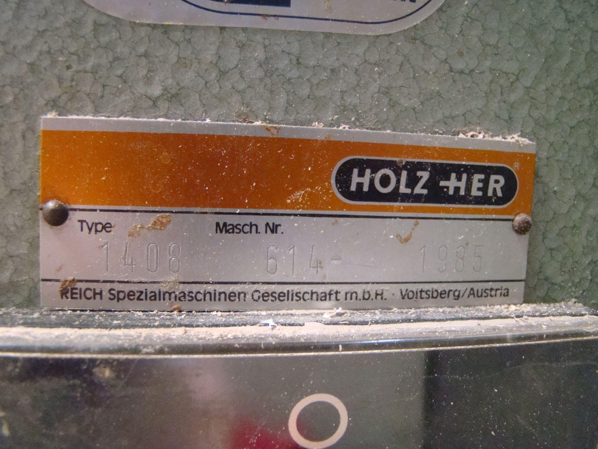 Lot 12 - Holz-Her Edge Bander 1408 Pressure Roller, Uses GluJet, End trim stations, Flush/Bevel Scraper,