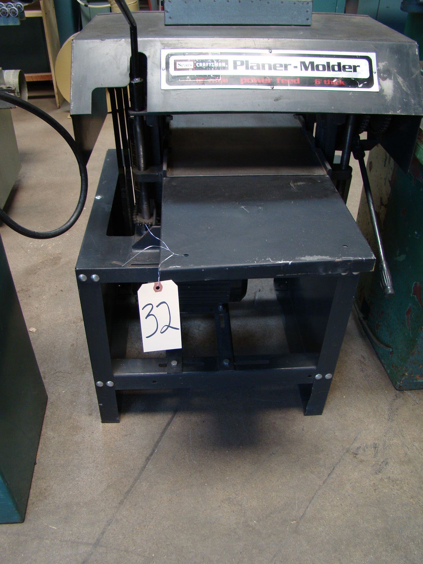 """Lot 32 - Craftsman 12"""" Planer/Moulder, Power Feed, 6"""" thick 2 HP 115/230 Volt 1PH"""