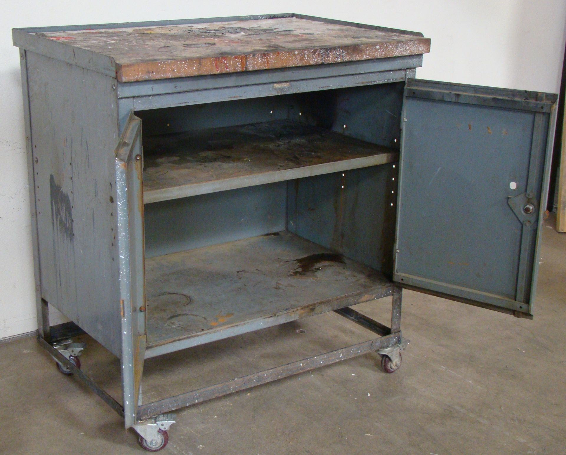 "Lot 23 - Rolling Storage Cabinet 40""h x 36""w x 25""d"