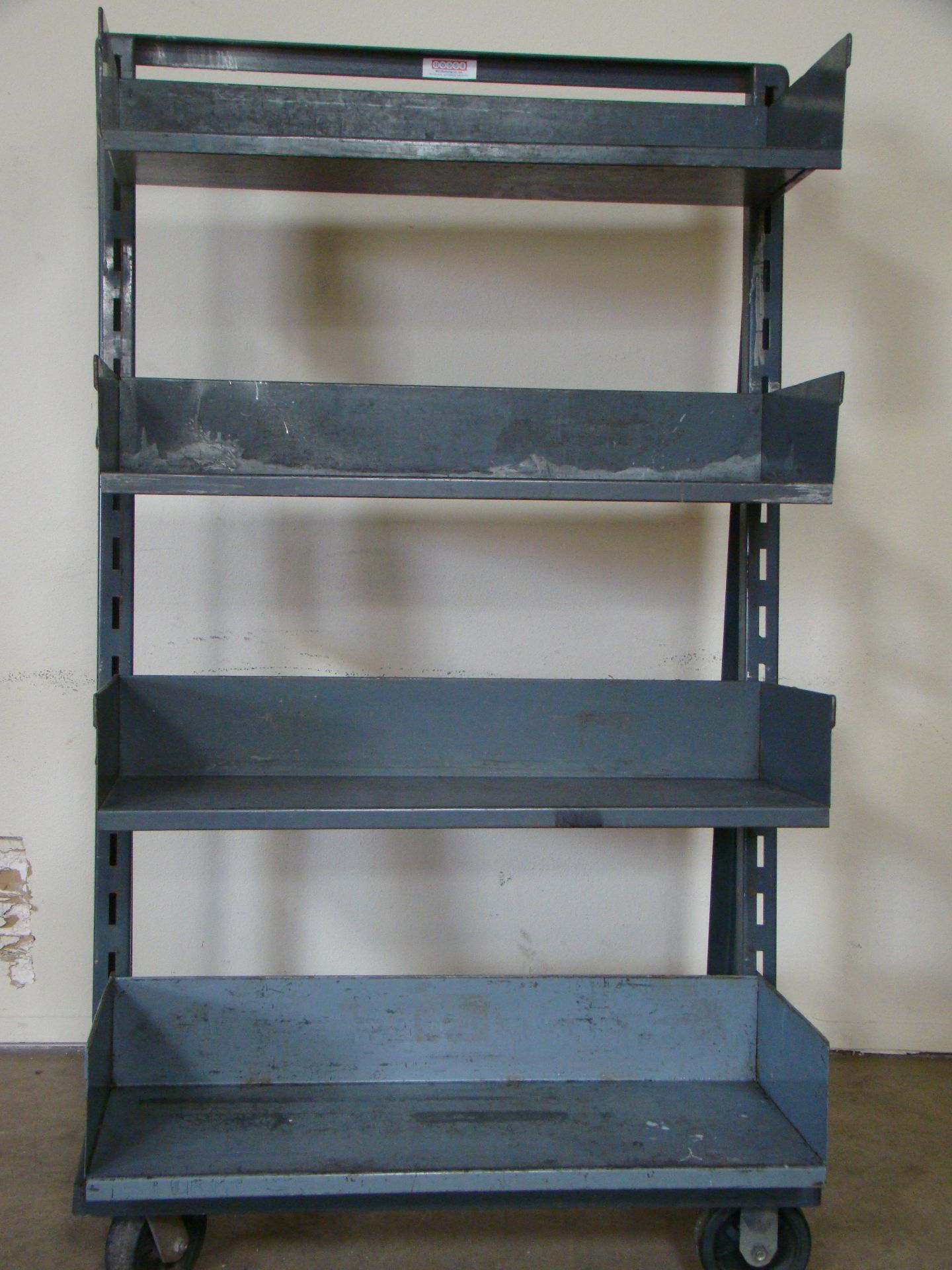 """Lot 20 - Hodge Adjustable 4 drawer Rolling Cart 64""""h x 38""""w x 27""""d"""