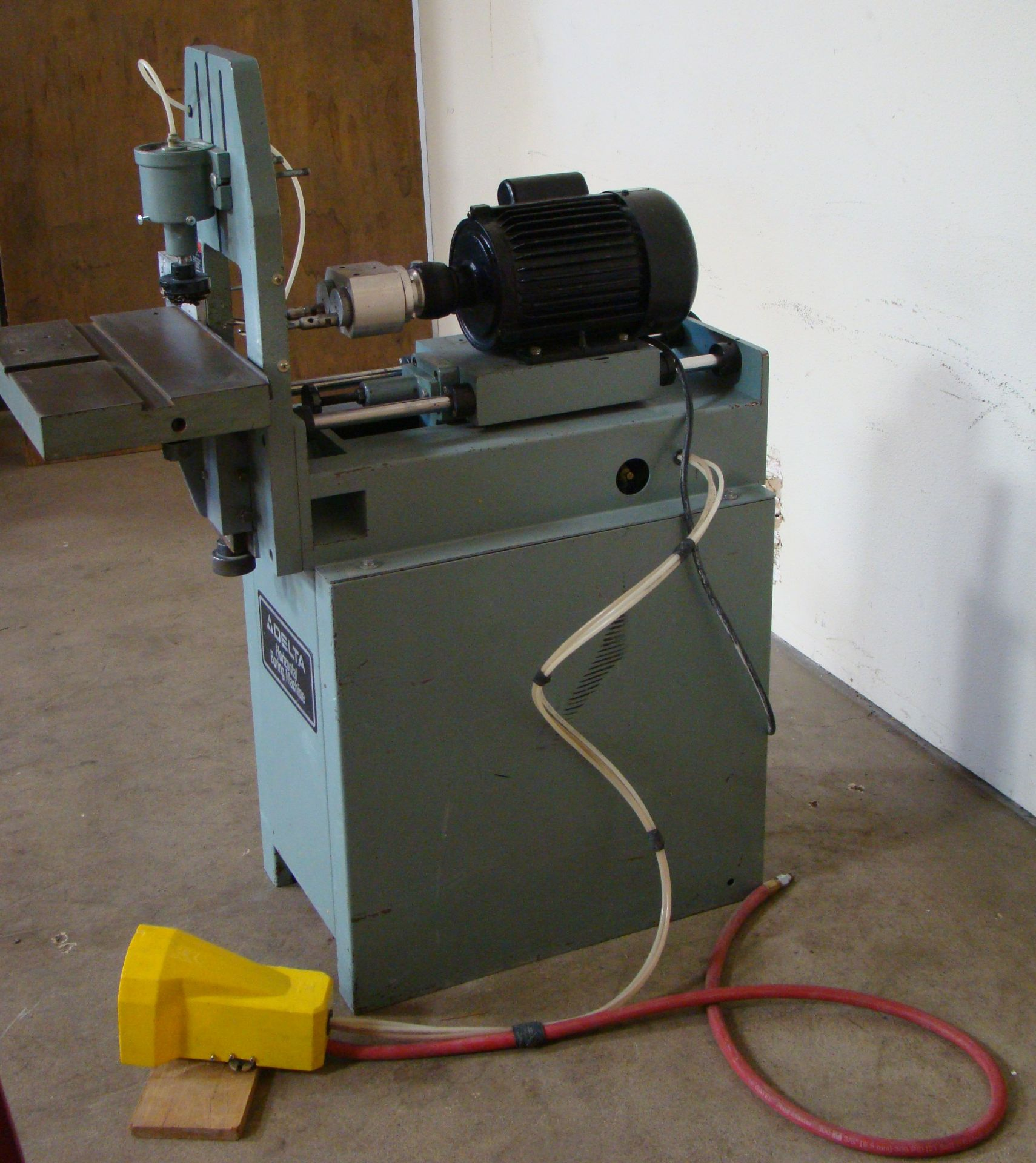Lot 7 - Delta Horizontal 2 Spindle Boring Machine Model #32-350, 1 HP 115/230 Volt