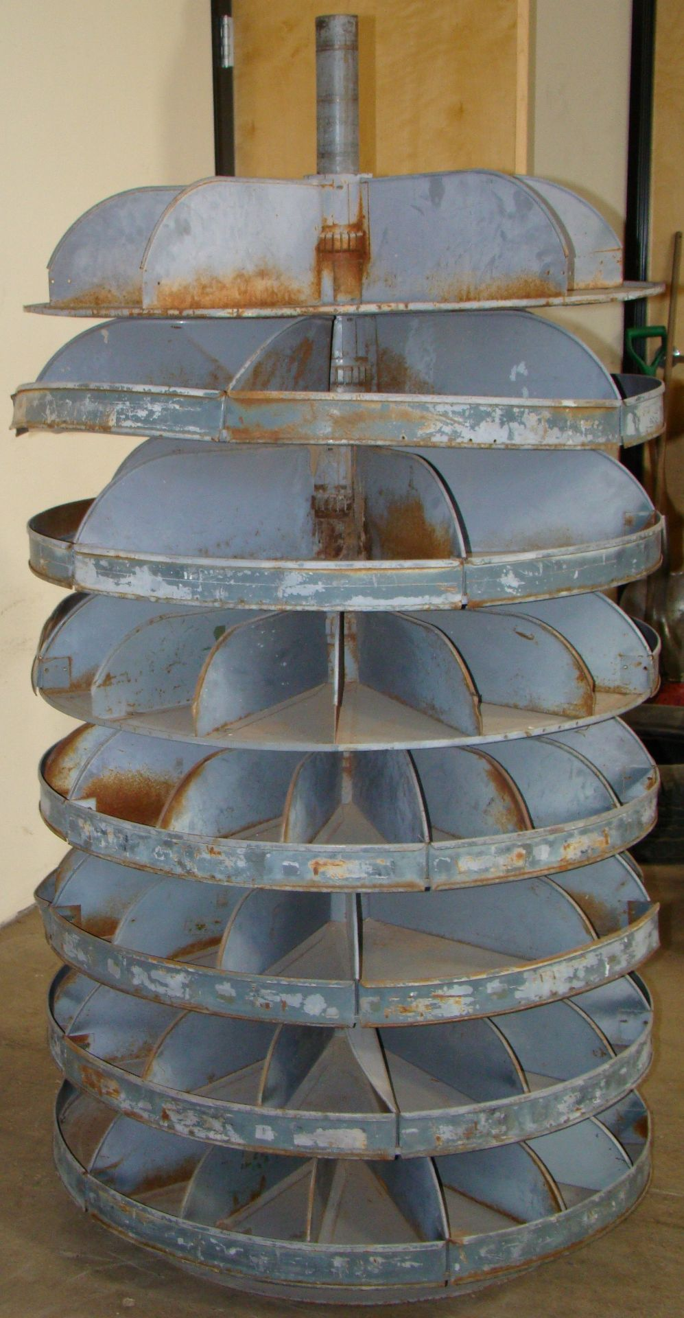 "Lot 29 - Revolving Bin Bolt Carousel - 8 Shelves 66""h x 36""d"