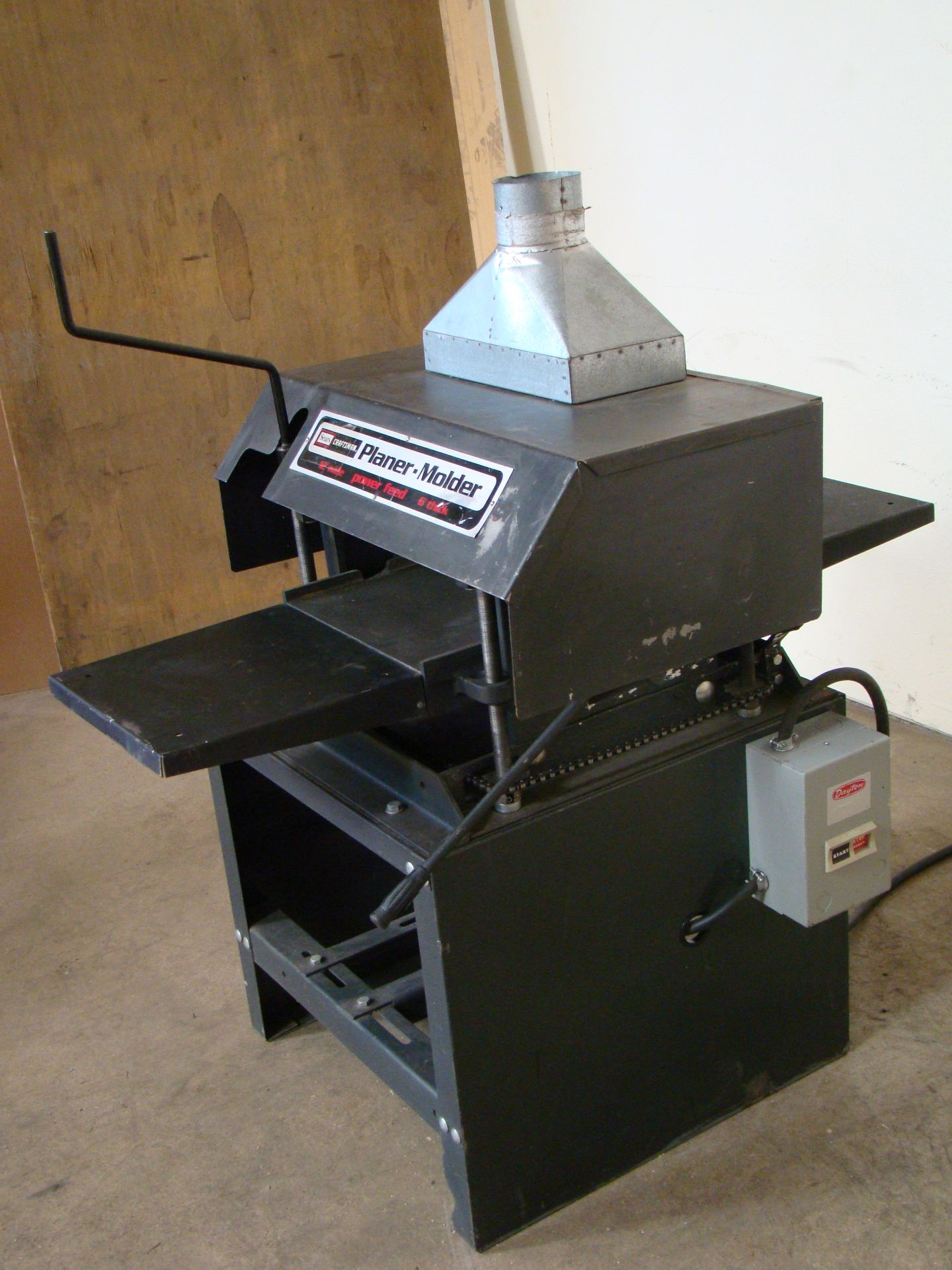 "Lot 32 - Craftsman 12"" Planer/Moulder, Power Feed, 6"" thick 2 HP 115/230 Volt 1PH"
