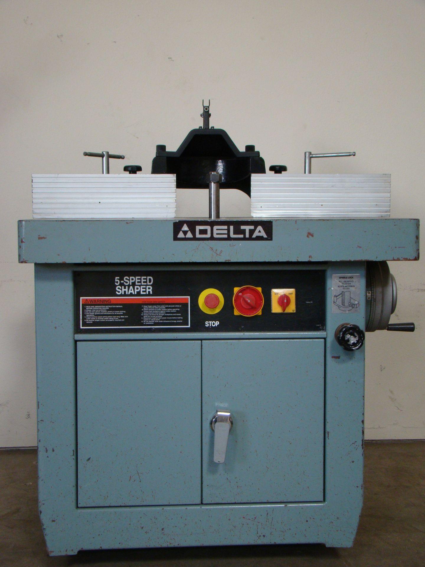 "Lot 5 - Delta Wood Shaper 43-791 5 speed 1-1/4"" Spindle 7.5 HP 200-220/440 Volt 3PH"