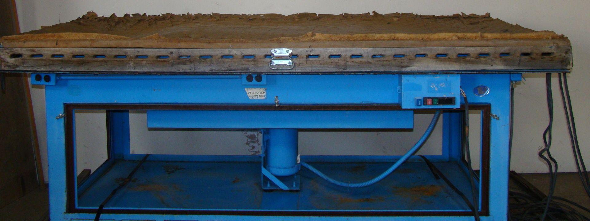 Lot 53 - Denray Downdraft Wood Sanding Machine 4' x 8' Table Model 9600, 2HP 230/460 Volt 3PH