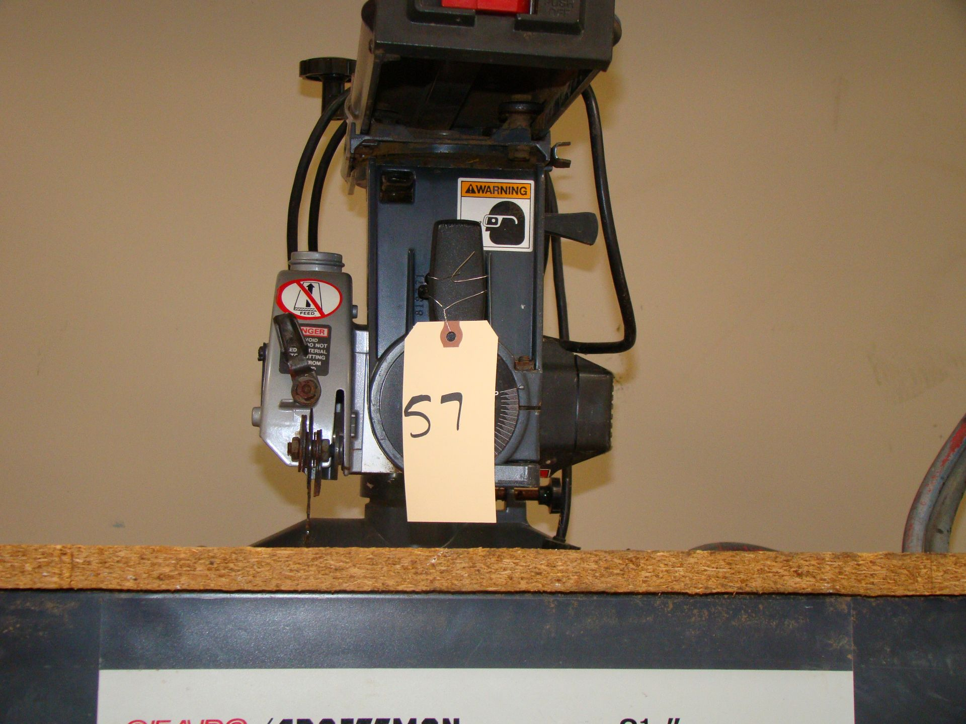 "Lot 57 - Craftsman 8-1/4"" Radial Arm Saw 120 Volt"
