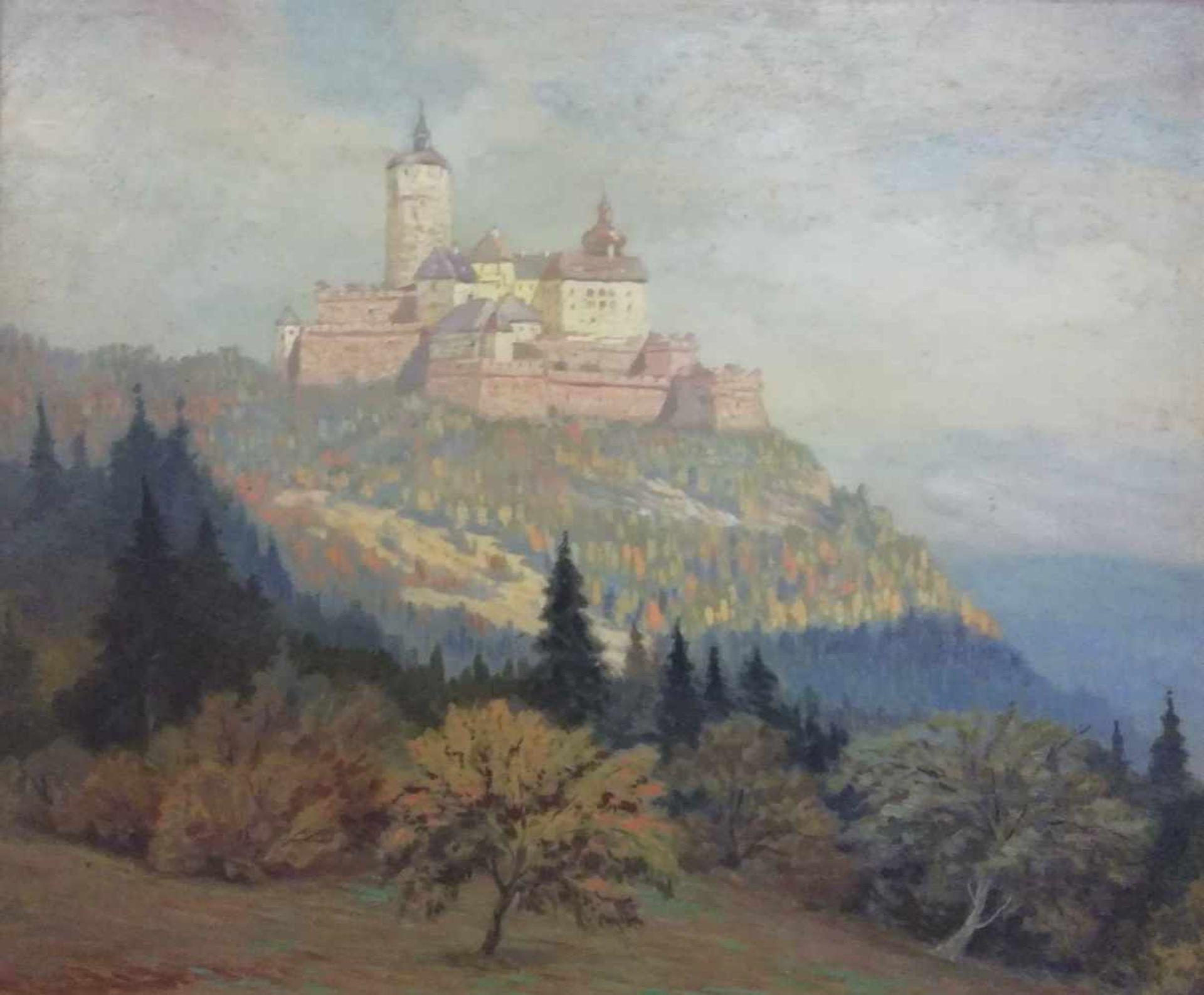 Los 6 - Albert Kollmann (Wien 1878-1962 Eisenstadt)Burg Forchtenstein, signiert Albert Kollmann, Öl auf