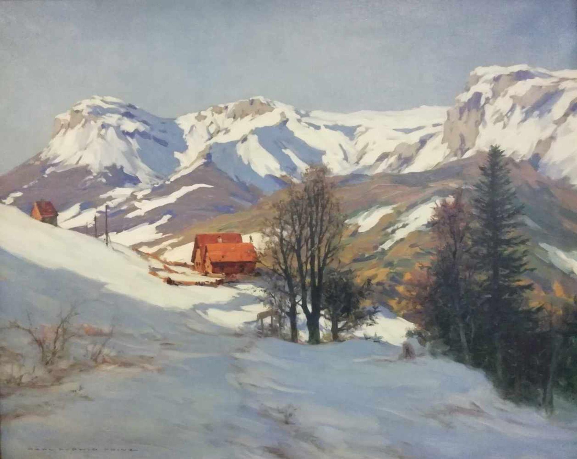 Los 8 - Karl Ludwig Prinz (Wien 1875-1944)Blick auf die Rax, signiert Karl Ludwig Prinz, 72,5x90 cm, Öl