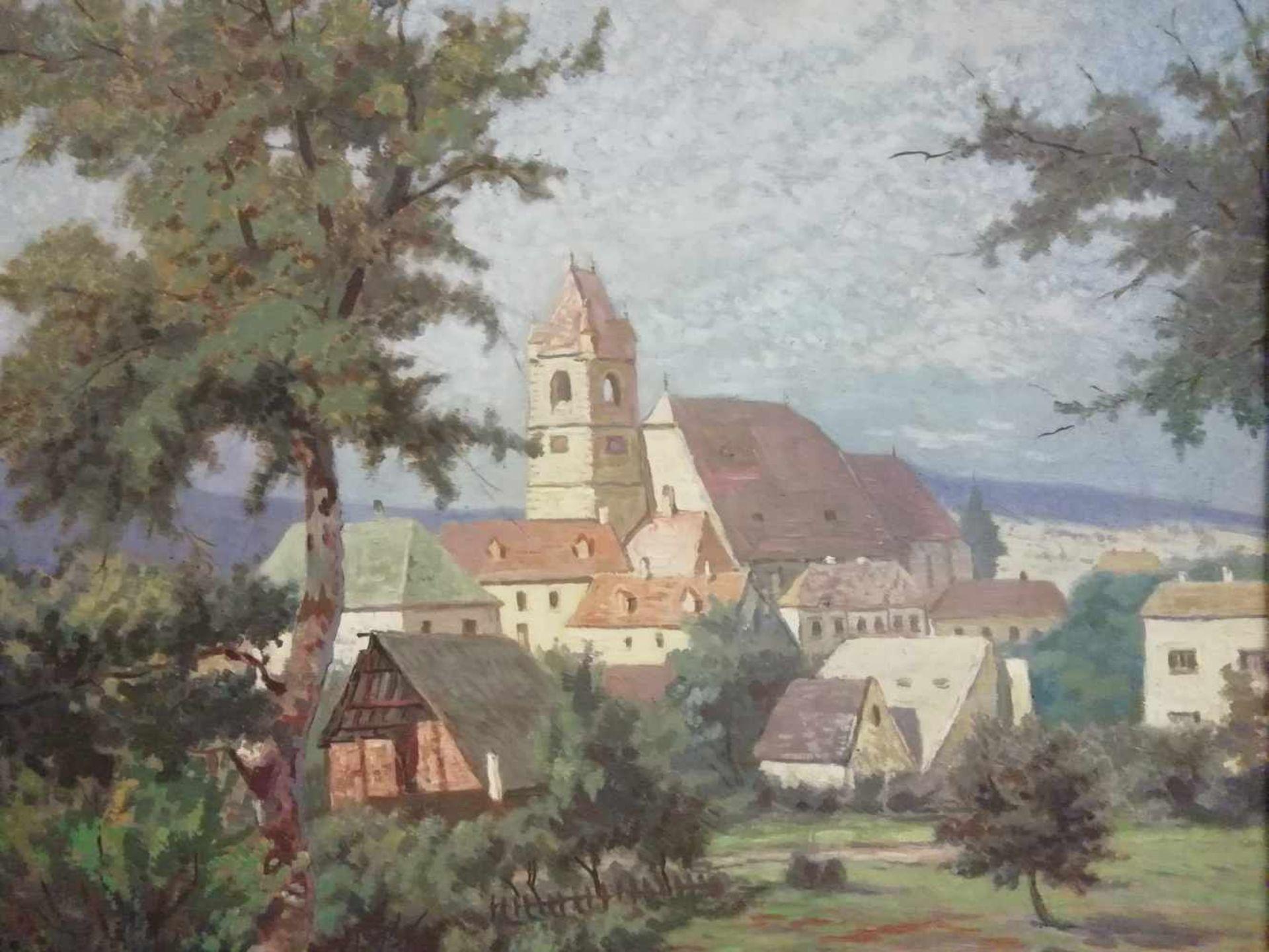 Los 7 - Albert Kollmann (Wien 1878-1962 Eisenstadt)Eisenstadt, signiert Albert Kollmann, Öl auf Platte,