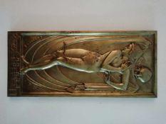 Hans Elischer (1891-1966)Tanzender Frauenakt mit Schleier und Totenkopf, signiert Elischer, dat.