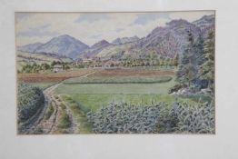 Rudolf Boerger um 1920/30Am Stein bei Kirchberg am Wechsel, Aquarell auf Papier, betitelt,