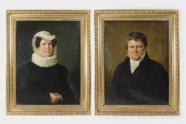 Künstler 1.Hälfte 19.Jh.,2 Biedermeier-Porträts um 1820/40, Öl auf Leinwand, rückseitiger