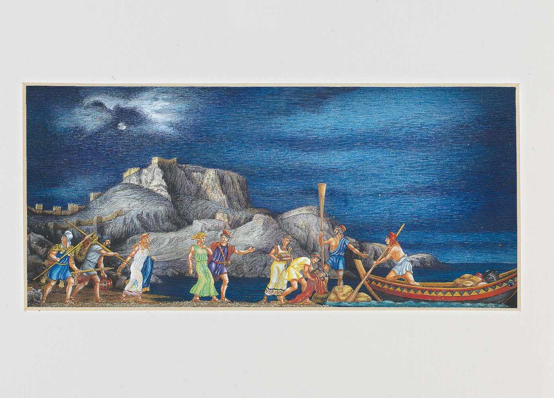 Wiener Manufakturen WerkstattZinnfiguren nach der Antike, von Gerhard Urbanke, 38x33,5 cm, in