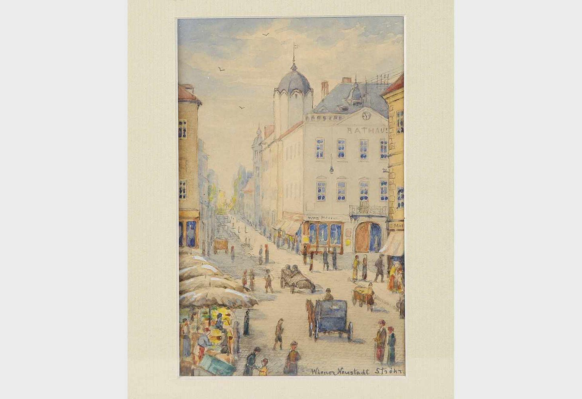 Heinrich Ströhr, Künstler Anfang 20.Jh.,Wiener Neustadt, Aquarell auf Papier, signiert Ströhr,