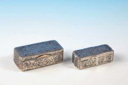 Silberne Tabakdoseflorales Dekor, 106,5g;