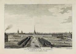 View of the Admiralty. Late XVIII-early XIX century. Engraving. - 1 sheet; 30,5x49 cmThe inscription